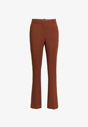 Pantalon classique - cognac