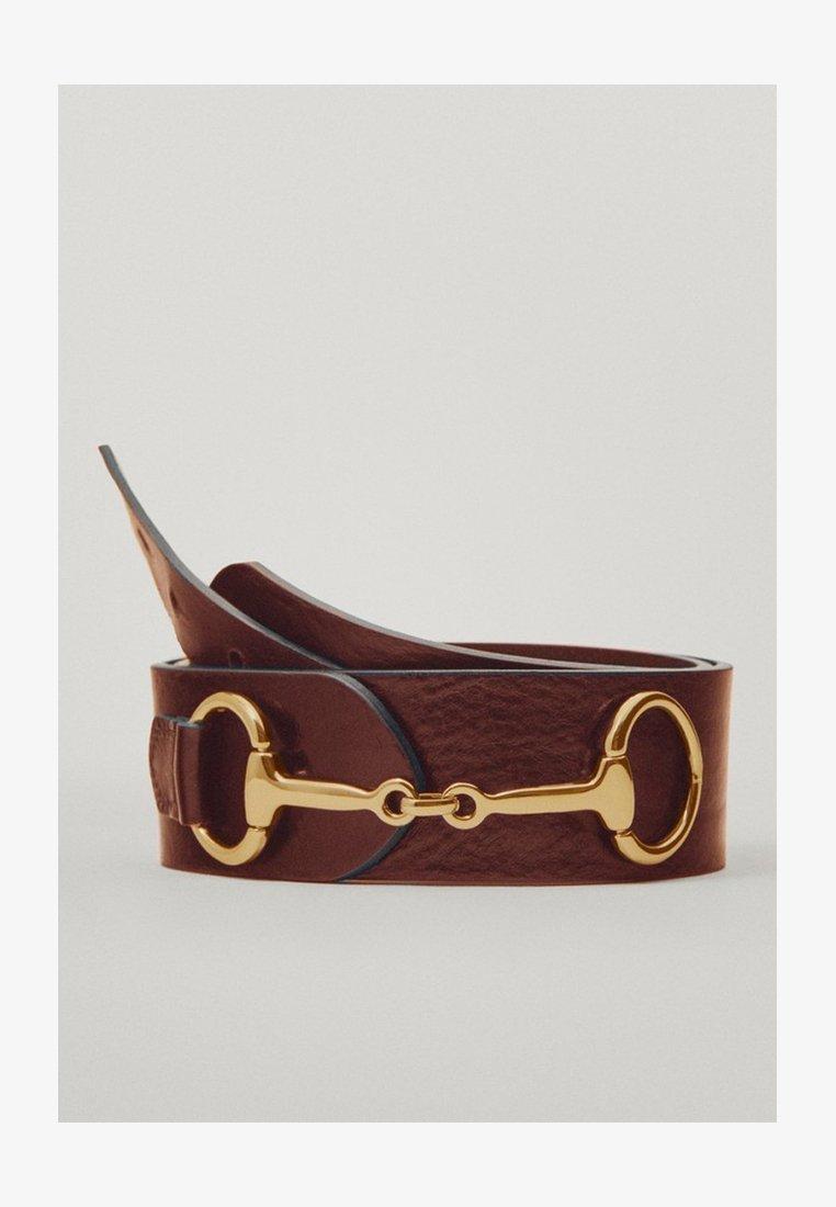 Massimo Dutti - MIT DOPPELTER TRENSE - Waist belt - brown