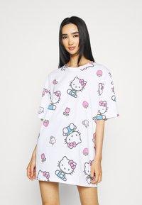 NEW girl ORDER - HELLO TEE DRESS - Vestito di maglina - white - 0