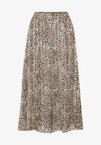 Kaffe - Pleated skirt - brown leo print gold lurex - 3