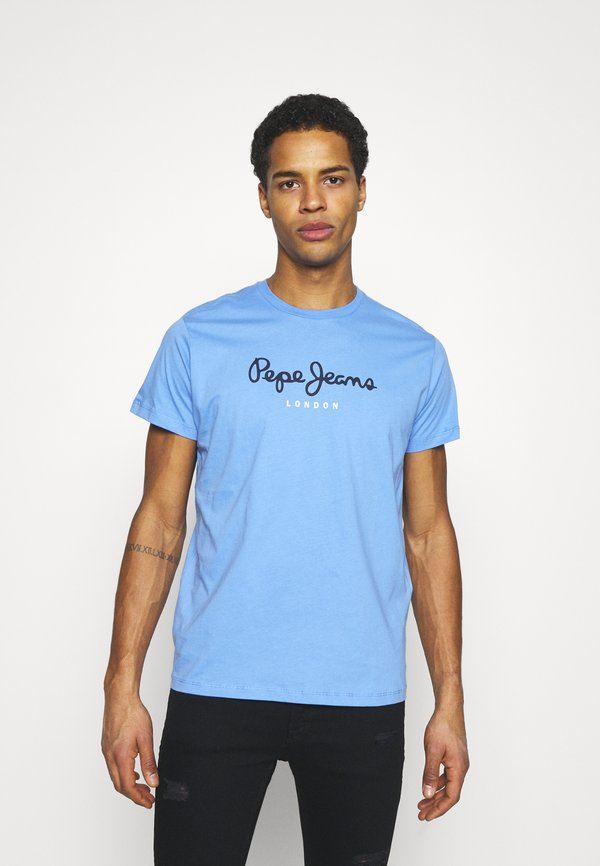 Pepe Jeans EGGO - T-shirt z nadrukiem - bright blue/niebieski Odzież Męska IMFA