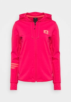 veste en sweat zippée - power pink/signal pink