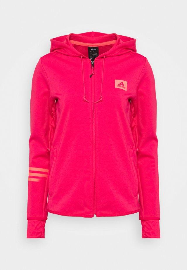 Mikina na zip - power pink/signal pink