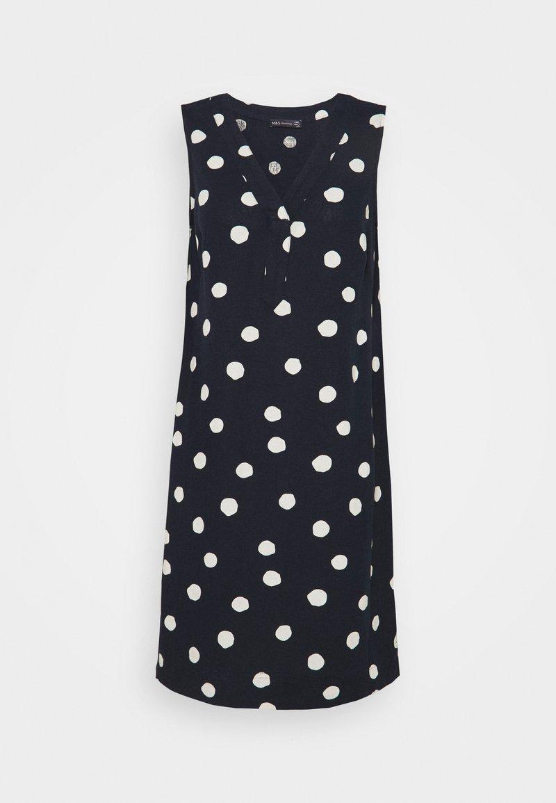 Marks & Spencer London - SPOT SHIFT - Kjole - dark blue