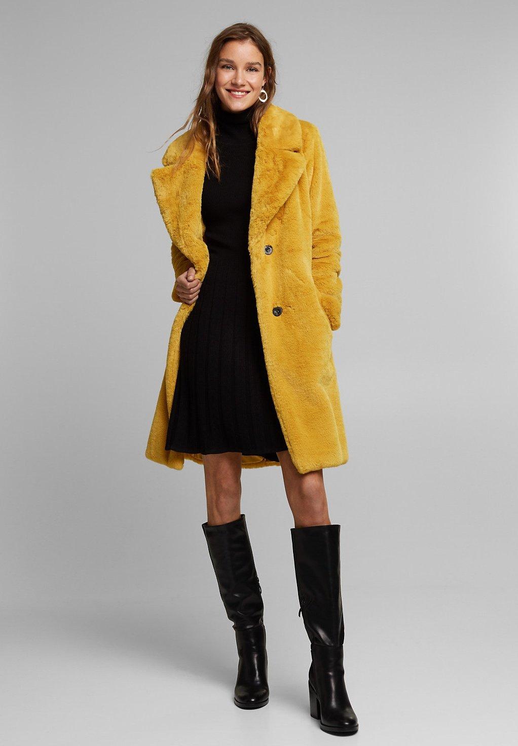 Winterjas dusty yellow