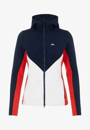 CRYSTAL CHEVRON - Zip-up hoodie - racing red