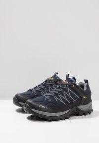 CMP - RIGEL LOW TREKKING SHOES WP - Hiking shoes - blue/graffite - 2