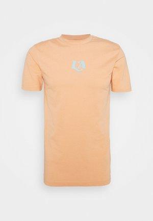 LA TEE UNISEX - Print T-shirt - peach