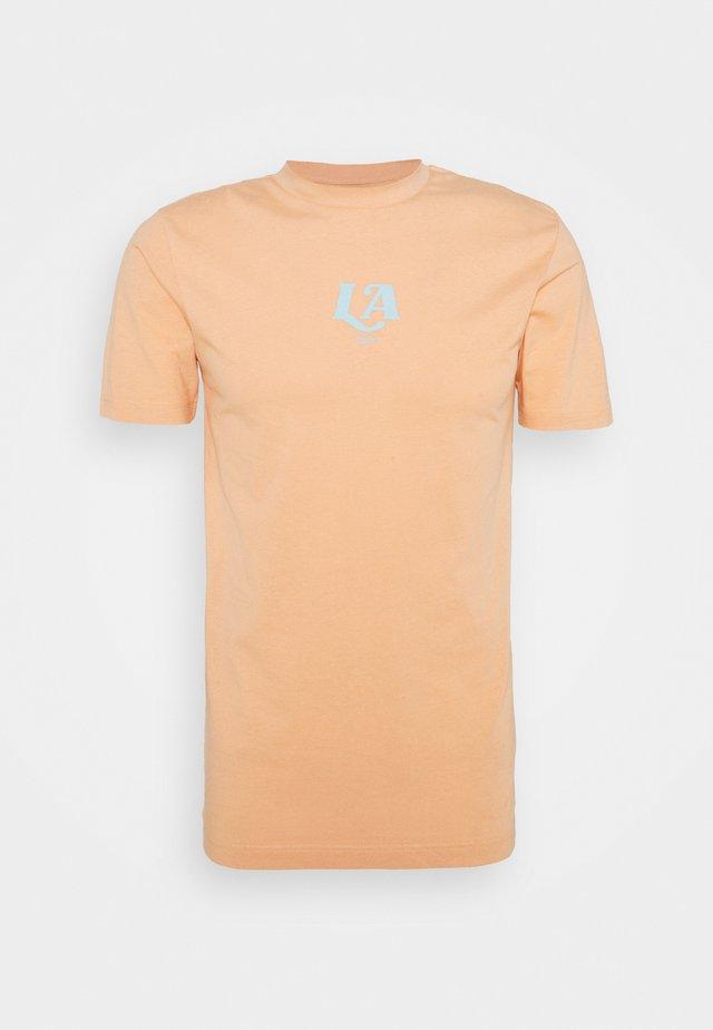 LA TEE UNISEX - T-shirt print - peach