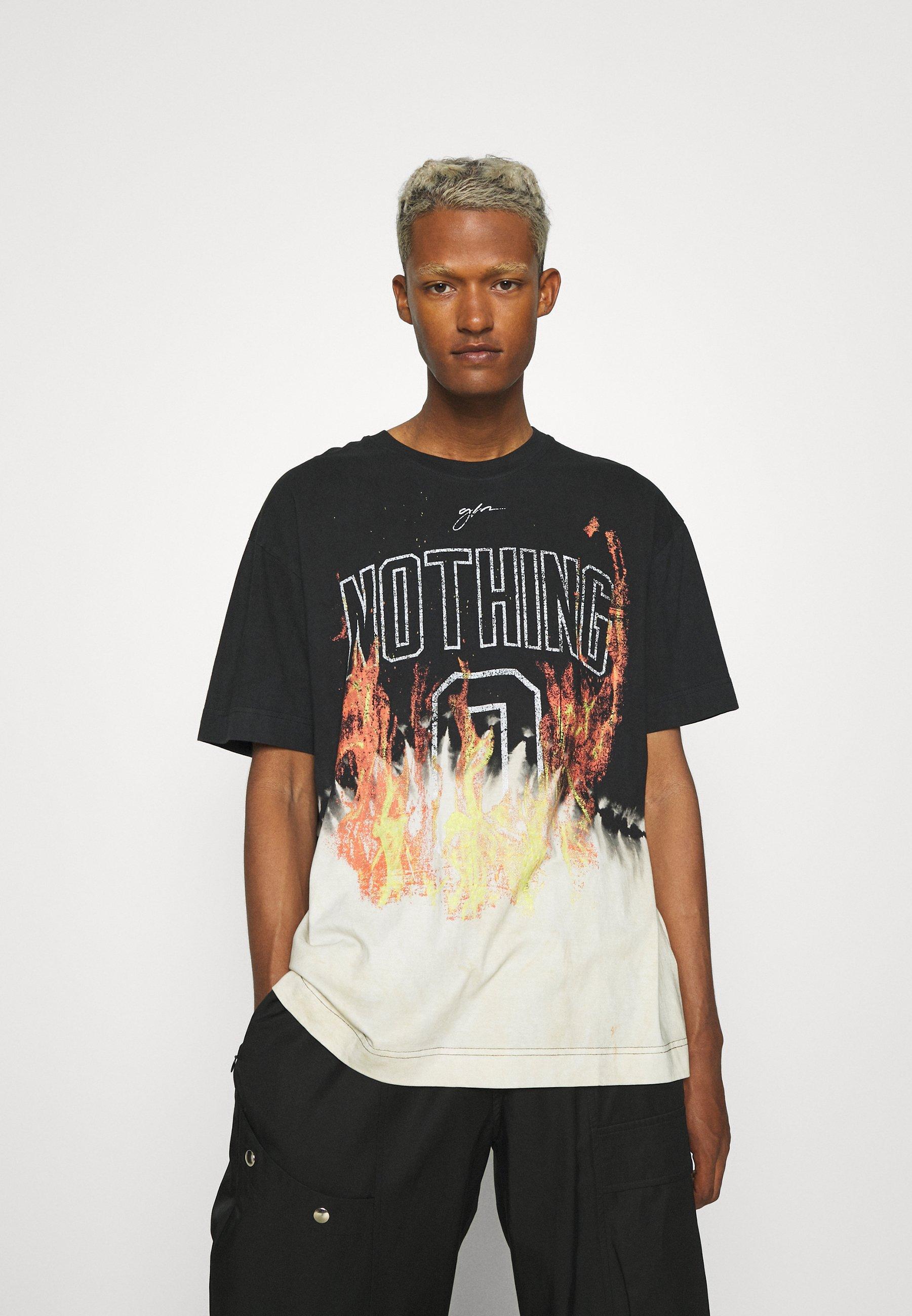 Men NOTHING BLEACH FLAME - Print T-shirt