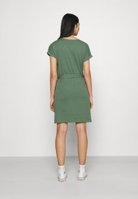 Even&Odd - BASIC - Short sleeves mini belted dress - Jersey dress - khaki - 2