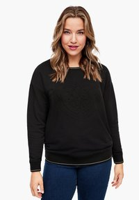 Triangle - Sweatshirt - black embossed heart - 0
