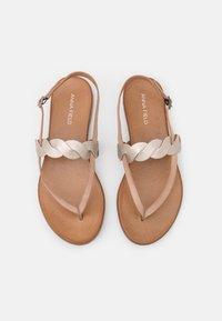 Anna Field - LEATHER - Sandály s odděleným palcem - beige - 5