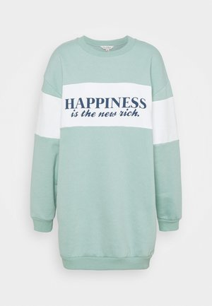 HAPPINESS IS THE NEW RICH TEE - Sweatshirt - sage