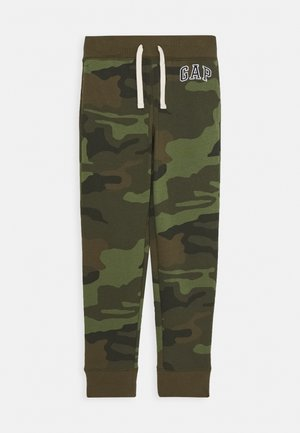 BOY HERITAGE LOGO  - Tracksuit bottoms - green