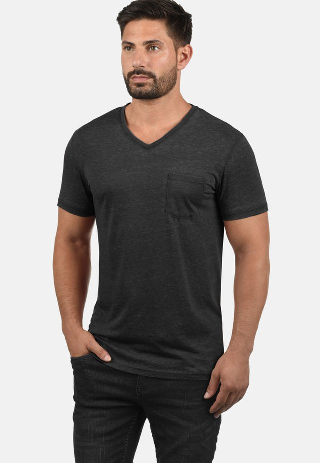 V-SHIRT THEON - Basic T-shirt - black
