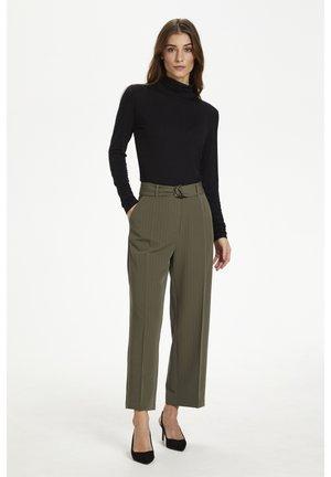 Trousers - grape leaf / black pin stripe