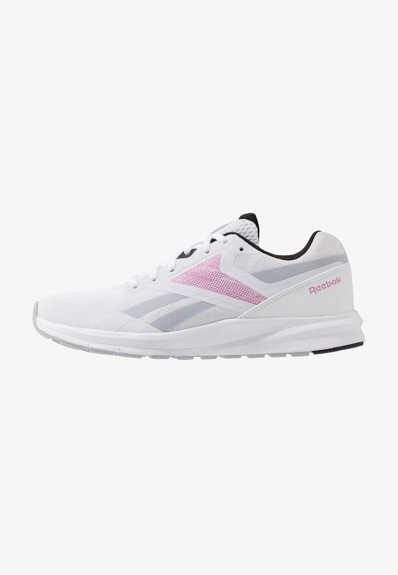 Reebok - RUNNER 4.0 - Neutrální běžecké boty - white/black/jasmin pink