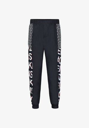 Tracksuit bottoms - black exploded hashtag