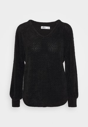 EYELASH VNECK  - Jumper - black
