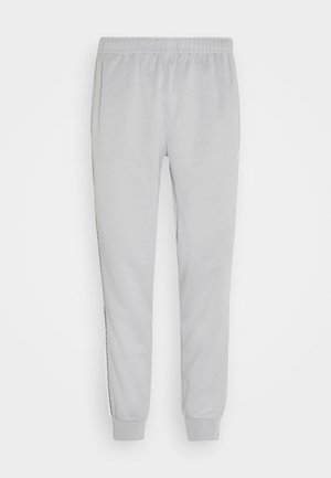 REPEAT - Pantalones deportivos - light smoke grey/white
