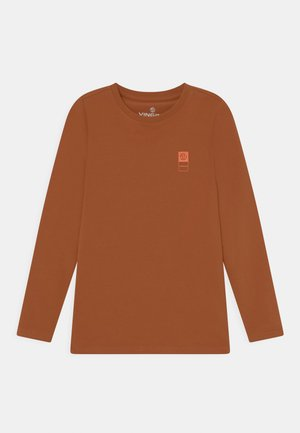 BASIC TEE - Longsleeve - rusty brown