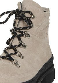 ICHI - Lace-up ankle boots - tapioca - 6