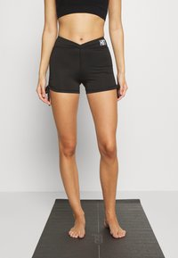 HIIT - LUCKY RUCHED SHORT - Tights - black - 0