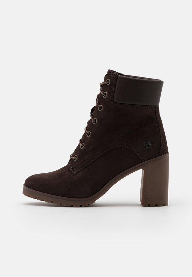 ALLINGTON 6 IN LACE UP - Enkellaarsjes met hoge hak - dark brown