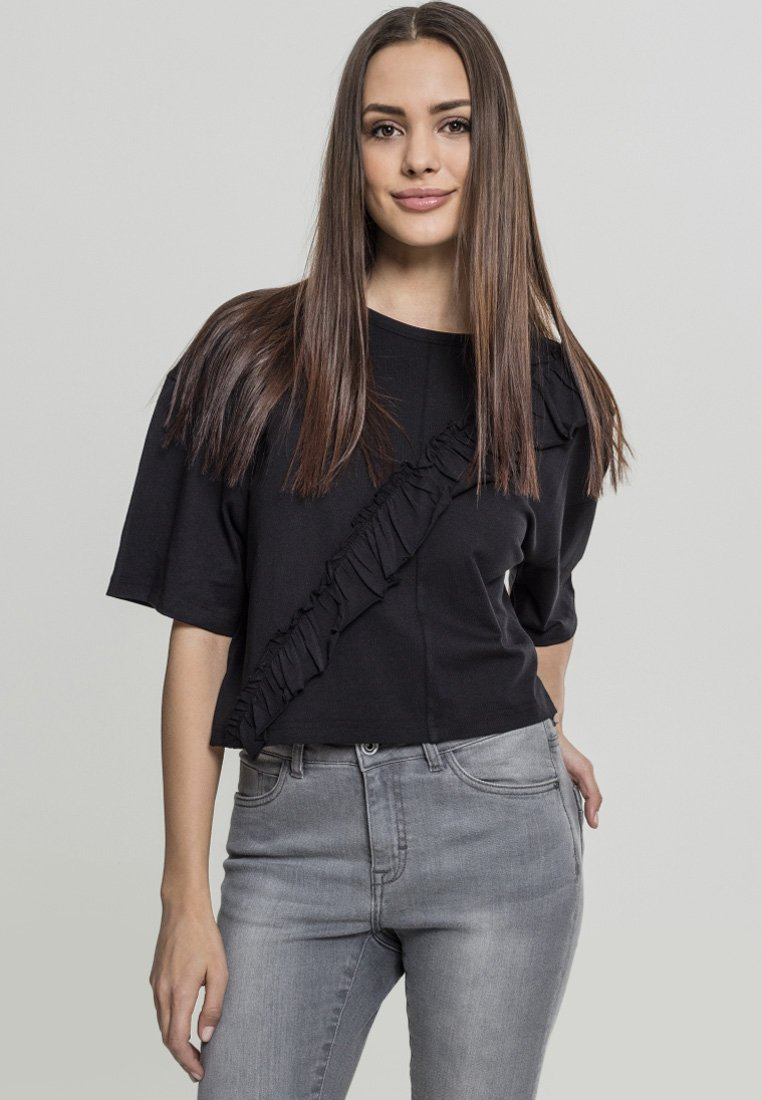 Damen LADIES SHORT OVERSIZE VOLANT TEE - T-Shirt basic