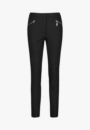 MIT ZIPPERTASCHEN  - Trousers - black