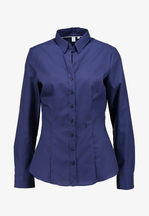 SCHWARZE ROSE - Button-down blouse - dunkelblau