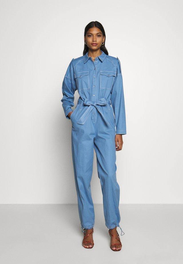 TIGER - Tuta jumpsuit - dusty blue