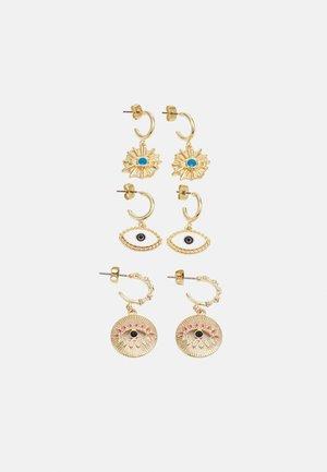 PCLAMAIA EARRINGS 3 PACK - Earrings - gold-coloured/multi