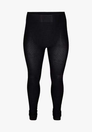 MIT STRUKTUR - Leggings - Trousers - black