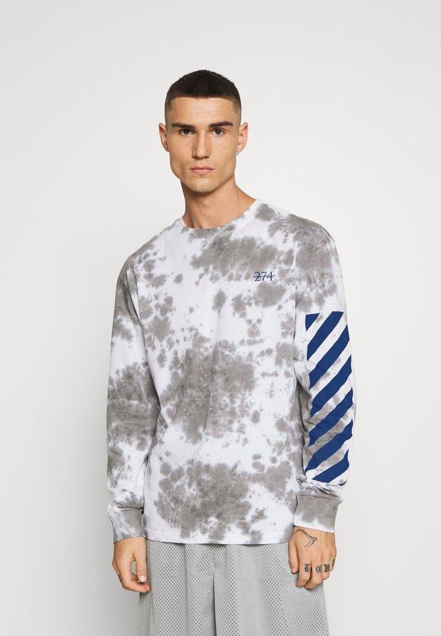 TIE DYE TEE - Long sleeved top - blue