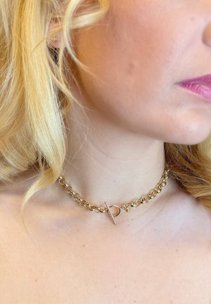Chunky mit Knebelverschluß - Necklace - gold-coloured