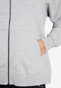 Nike Sportswear - HOODY - Zip-up hoodie - grey heather/white - 5