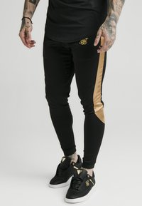 SIKSILK - SCOPE PANEL  - Tracksuit bottoms - black/gold - 4