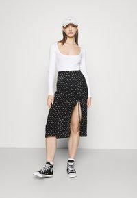 Even&Odd - 2 PACK - Long sleeved top - black/white - 0