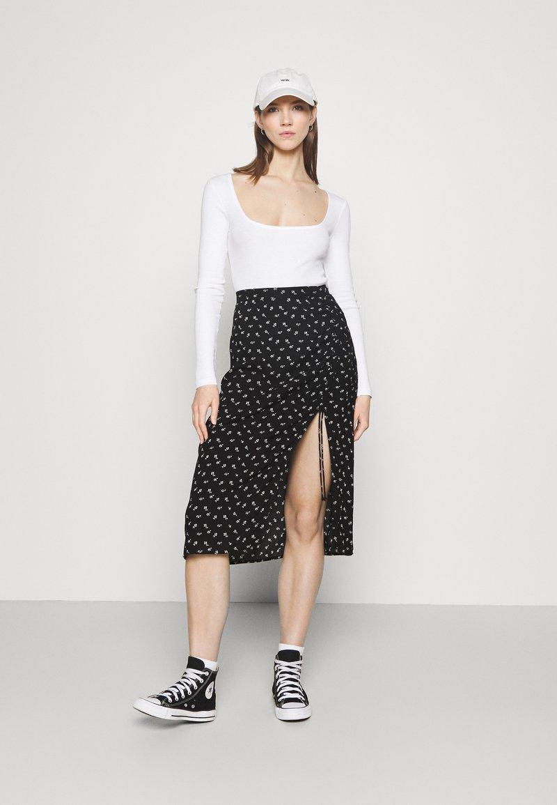 Even&Odd - 2 PACK - Long sleeved top - black/white