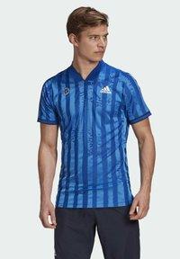 adidas Performance - Print T-shirt - blue - 0