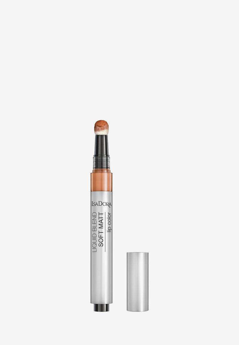 IsaDora - LIQUID BLEND SOFT MATT LIP COLOR - Liquid lipstick - rust brown