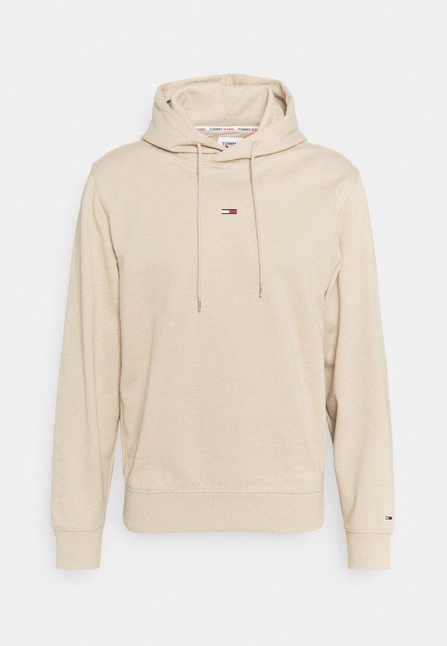 GEL STRAIGHT LOGO HOODIE - Sweatshirt - beige