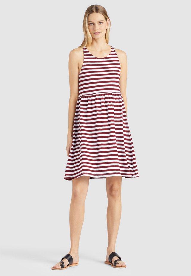 KELLAGE - Jersey dress - rot gestreift