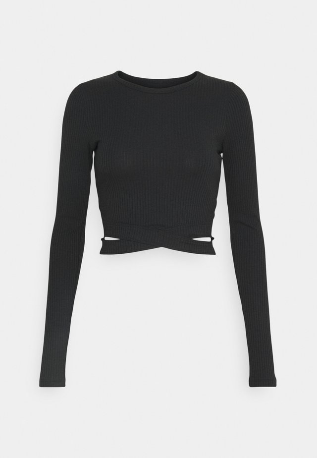 ULTRA CROP CUT OUT - Langarmshirt - black