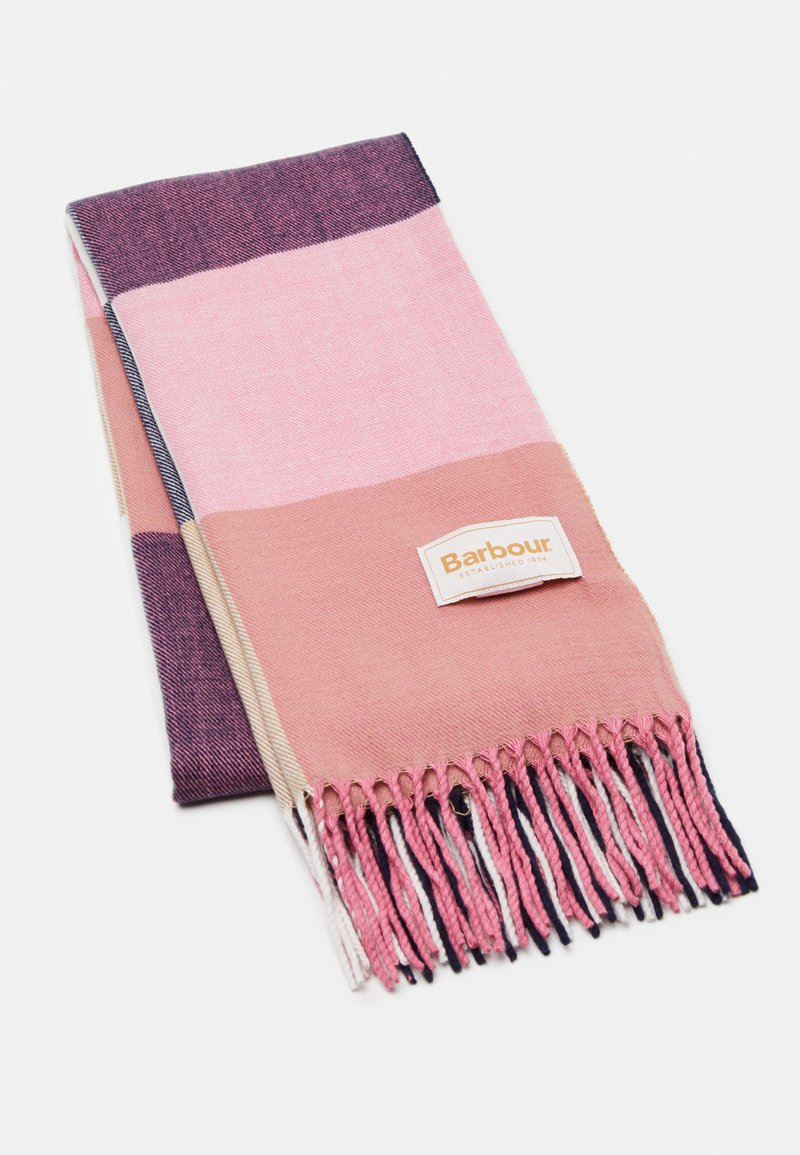 Barbour - PASTEL CHECK SCARF - Szal - pink/hessian