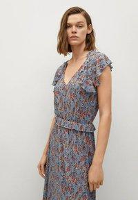 Mango - Day dress - azul - 2