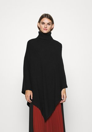 VIRIL ROLLNECK PONCHO  - Poncho - black