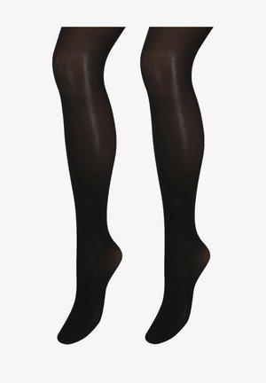 TWO PACK - Over-the-knee socks - black